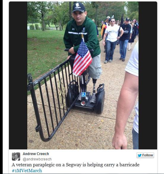 #VETS2DC Wounded Vet Delivers His Message